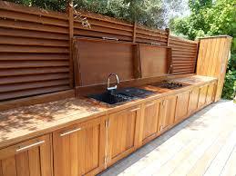 meuble cuisine exterieure cuisine d ete exterieure incroyable cuisine d ete en bois idées
