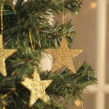small gold glitter ornaments ornaments