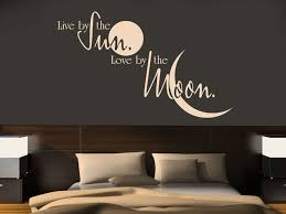 wall decal live by the sun by the moon home decoration decal