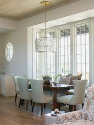 oly serena drum chandelier cottage dining room tracery interiors
