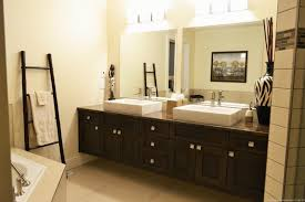 L Shaped Bathroom Vanity by Bathroom Mirror Ideas Double Vanity Double L Shaped Brown Finish