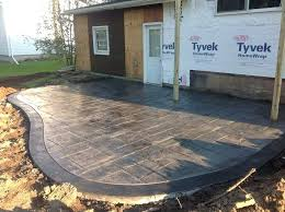 Concrete Backyard Ideas Backyard Stamped Concrete Ideas Home Design Inspirations