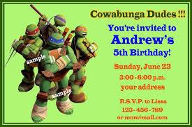 free printable ninja turtles birthday party invitations drevio