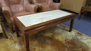 Hardwood Coffee Table Marble U0026 Solid Wood Coffee Table In Bearsden Glasgow Gumtree