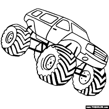 monster trucks coloring pages 1