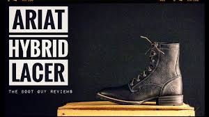 ariat hybrid lacer wide square toe the boot guy reviews youtube