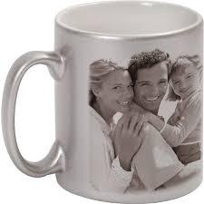 silver mug metallized silver mug 1x print for a left hander a photo gift