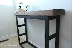 Reclaimed Wood Console Table Pottery Barn Diy Laundry Room Side Table Pottery Barn Style The Wood Grain