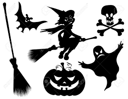 halloween ghost stencil halloween silhouettes witch pumpkin witches broom skeleton