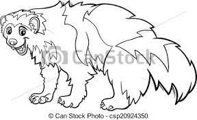 clipart vector wolverine animal cartoon coloring black