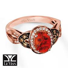 fire opal rings images Jared le vian fire opal ring 1 4 ct tw diamonds 14k strawberry gold jpg
