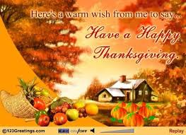 here s a warm wish from me to say a happy thanksgiving