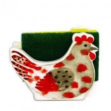 eponge cuisine porte éponge de cuisine poule en ceramique avec éponge grattante