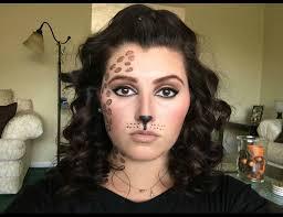 halloween leopard makeup tutorial quick leopard cheetah print halloween makeup tutorial youtube