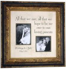 wedding gift ideas for parents the to my parents personalized wedding frame is beautiful and