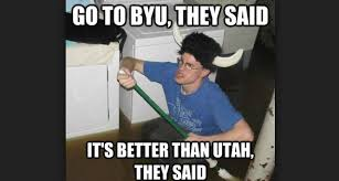 Byu Meme - 6 facts about byu that u of u fans try to ignore lds living