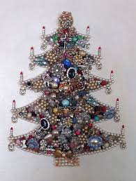family heirloom christmas tree with jewelry from five generations