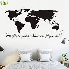 popular large wall map buy cheap large wall map lots from china dctop classic black large world map wall stickers original creative map wall art bedroom living room