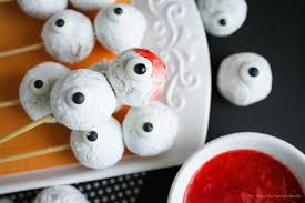 skewered eyeballs halloween treat eighteen25