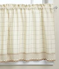 Adirondack Shower Curtain by Amazon Com Adirondack Cotton Kitchen Window Curtains Toast 38