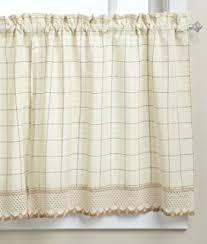 Lorraine Curtains Amazon Com Adirondack Cotton Kitchen Window Curtains Toast 38