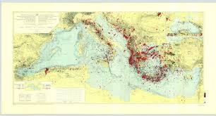Mediterranean Sea World Map by Ioc Iho Ibcm International Bathymetric Chart Of The Mediterranean