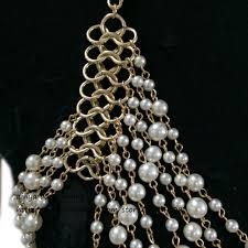 Draped Body Chain Aliexpress Com Buy Bc 412 Body Chain Imitation Pearl Chains