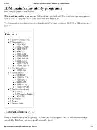 ibm mainframe utility programs computer engineering computer data