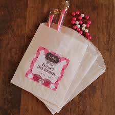 personalized party favor bags 24 sweet 16 party favor bags with personalized labels kaitlin