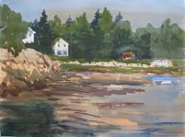 Rock Garden Inn Maine Stephen Harby Architecture And Place Watercolor Paintings