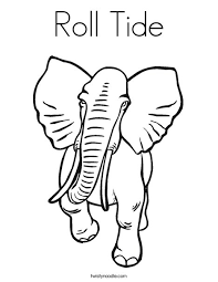 Roll Tide Coloring Page Twisty Noodle Alabama Crimson Tide Coloring Pages