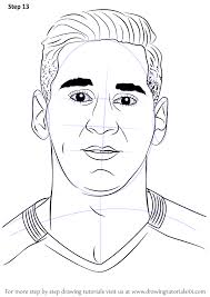 learn how to draw lionel messi footballers step by step