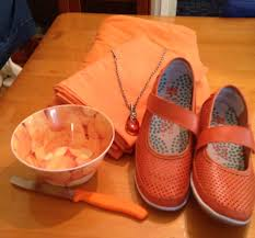 the colour orange everywhere