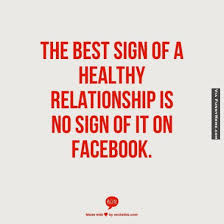 Facebook Relationship Memes - the best sign of a healthy relationship http weddingmusicproject