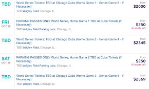 chicago cubs world series tickets starting at 2 000 si com