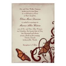 wedding invitations jacksonville fl butterfly wedding invitations announcements zazzle