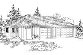 Garage Plans With Storage by Traditional House Plans Garage W Shop 20 050 Associated Designs
