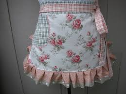 Womens Aprons Womens Aprons Aprons With Coral Roses Shabby Chic Apron