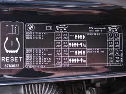 bmw 3 series tyre pressure tyre pressures e60 e61 2004 2010 bmw 5 series owners board