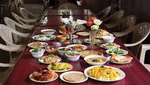 table full of food let s talk about portion control live laugh love and lose