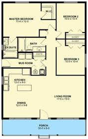 Bungalow Round Floor Plan Interior by Floor Plan For Affordable 1 100 Sf House With 3 Bedrooms And 2