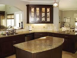 kitchen modern steel refrigerator dark kitchen island granite