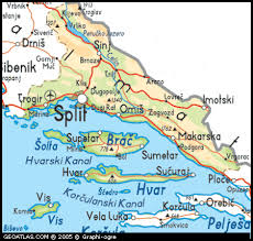 Split by Map Of Split And Dalmatia County Map Split And Dalmatia Croatia Maps