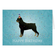 rottweiler happy birthday greeting cards zazzle