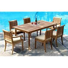 Teak Outdoor Dining Table And Chairs New 7 Pc Luxurious Grade A Teak Dining Set 94