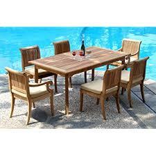 amazon com new 7 pc luxurious grade a teak dining set 94