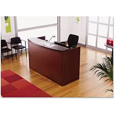 Reception Desk With Transaction Counter Alera Valencia Series Reception Desk With Counter 71w X 35 1 2d X