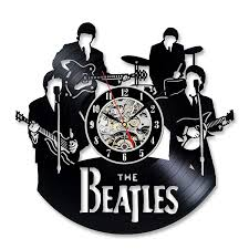 vintage vinyl record wall clock gift for the beatles fans vinyl