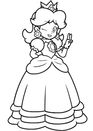 mario princess daisy coloring free printable coloring pages