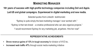 resume marketing resumes samples stimulating resume marketing